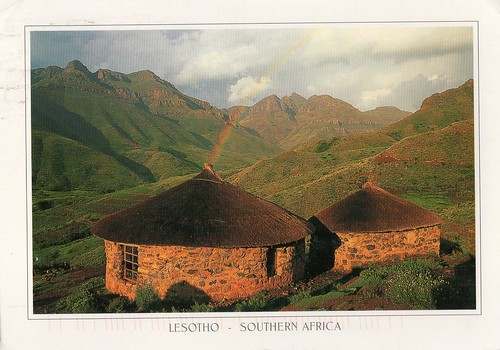 mountains southafrica postcards lesotho