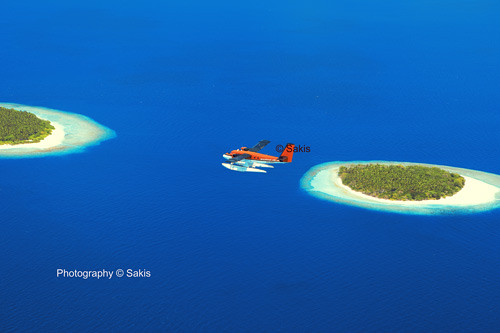 discovering the Maldivian Islands ,aerial view Maldives © Sakis