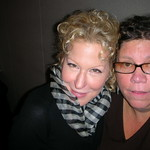 WFUV's Rita Houston with Bette Midler