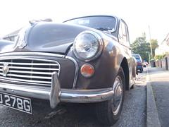 mini cooper(0.0), mini(0.0), city car(0.0), automobile(1.0), automotive exterior(1.0), vehicle(1.0), mid-size car(1.0), morris minor(1.0), compact car(1.0), antique car(1.0), vintage car(1.0), land vehicle(1.0),
