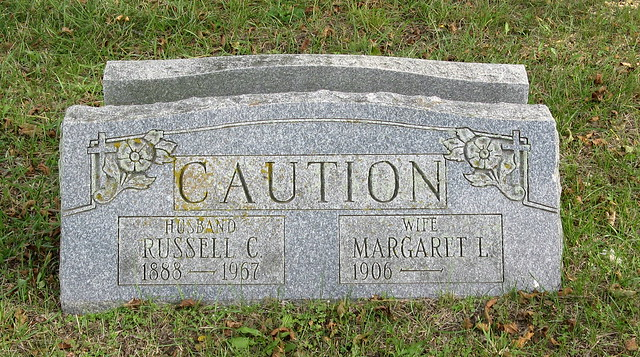 Caution Grave in AC Cemetery