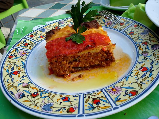 Moussaka comida grega EUA USA