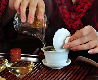 Chengdu - Drinking tea