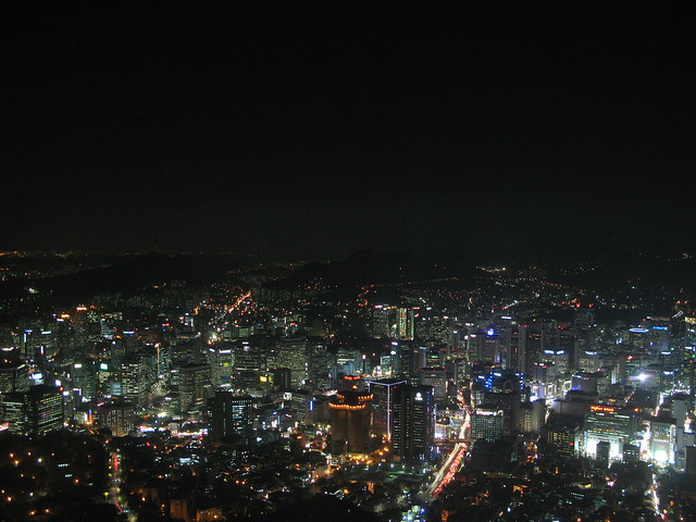Seoul Night Lights by CC user jrover on Flickr