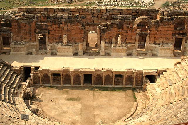 View of the stage of the theatre at Hierapolis - this could hold 12,000 spectators