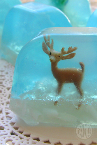 Snow globe soap