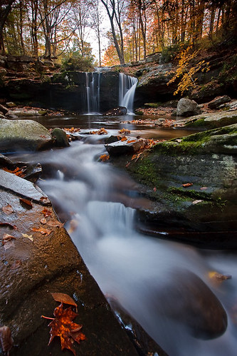 ny newyork color fall water creek river flow waterfall stream foliage catskills cascade