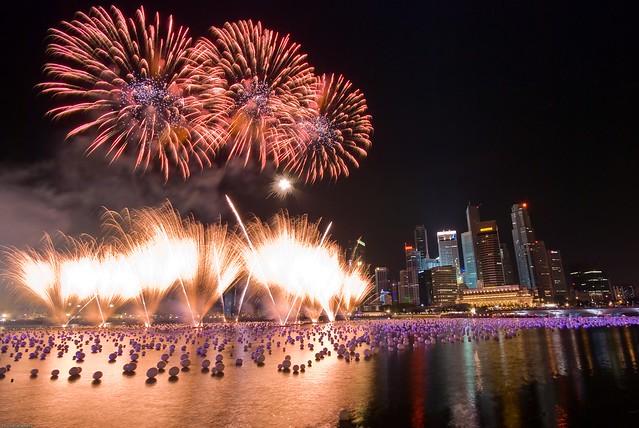Singapore New Year 2009 Fireworks