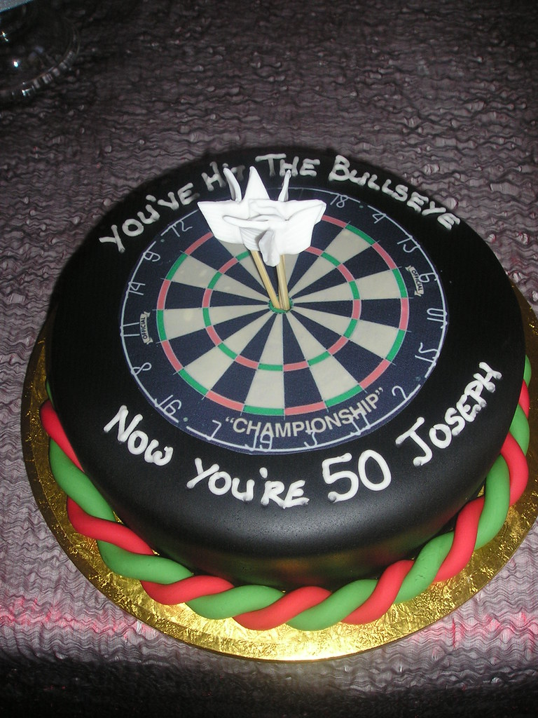 Dart Board Birthday Cake A Photo On Flickriver