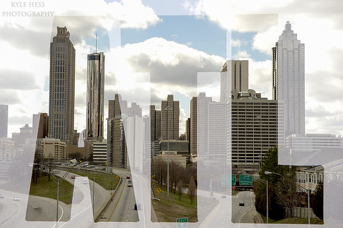 Downtown Atlanta Double-Exposure