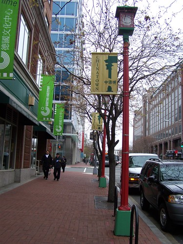 Chinese styled lamposts and lights, Chinatown, DC