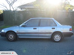 automobile, vehicle, mid-size car, peugeot 309, compact car, sedan, land vehicle,