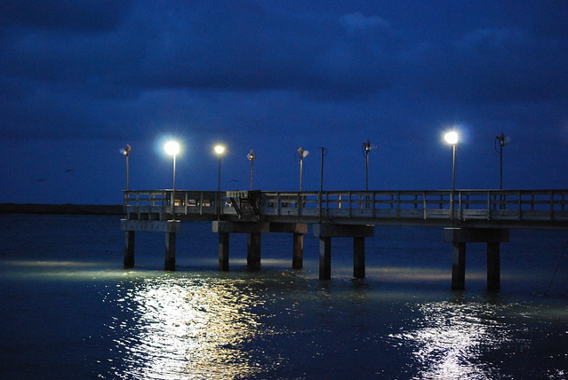 Fishing pier at night port aransas texas flickr for Port aransas fish cam