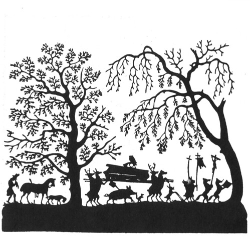 The Hunt papercut