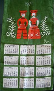 Vera 1971 Tea Towel - Folk Art