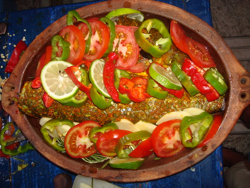 Tagine de poissons aux l gumes - Cuisson tajine au four ...
