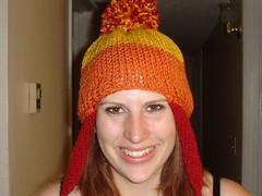 art, orange, face, clothing, head, knitting, hair, beanie, hat, cap, crochet, knit cap, headgear,