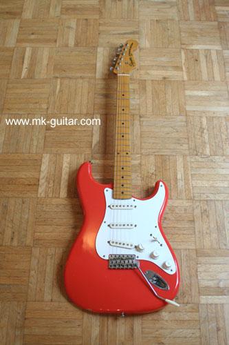 1983 Squier Stratocaster fiesta red