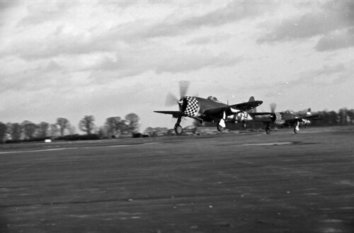 P47s taking off in pairs (3)