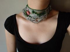 Myth ... Freeform Crochet Necklace