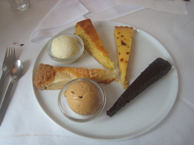 ... - Pear & Almond Tart; Polenta Cake with Lemon Sorbet; Lemon Tart