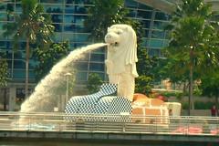 Merlion Singapore ~ . '鱼 尾 狮
