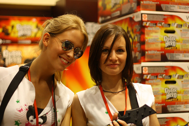 Guitar Hero Girls Fanny and Amelia Guitar Hero 4 was on demonstration in