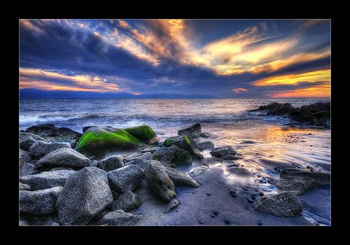 blue sunset sea sky green beach water clouds atardecer mar agua nikon rocks shadows playa cielo nubes sombras hdr d300 anawesomeshot colorphotoaward vosplusbellesphotos