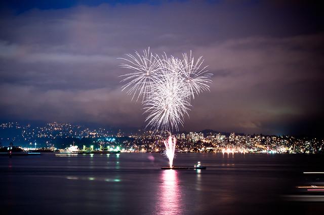 Fireworks in Coal Harbor