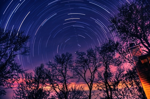 longexposure blue sunset sky nature night clouds sunrise landscape star twilight nikon bravo trails explore trail bluehour celestial startrails polaris northstar startrail d90 explored moniza landscapeexhibition photographerschoice~halloffame