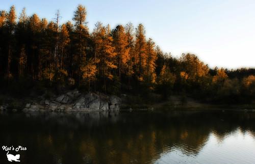 blue sunset red arizona brown lake reflection tree green water digital landscape nikon kat rocks prescott orton hss katspics d3000