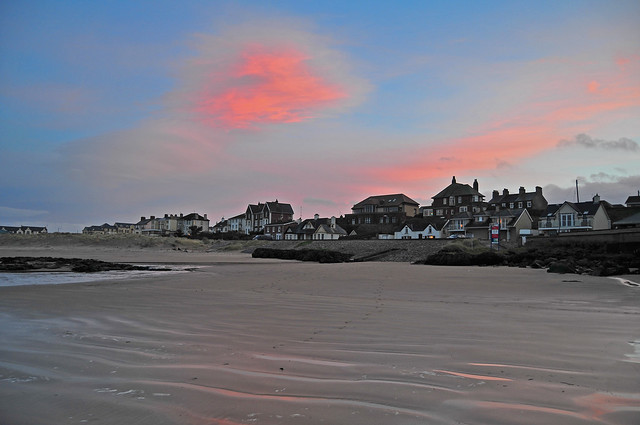 The promenade with a candyfloss sky