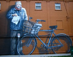John Hjaltason mural, West End Winnipeg