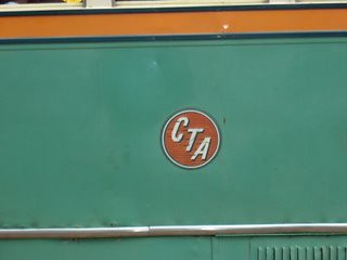 The original 1947 Chicago Transit Authority logo. The Illinois Railway Museum. Union Illinois. by Eddie from Chicago