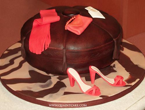 leather ottoman cake