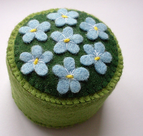 Forget-Me-Not pincushion