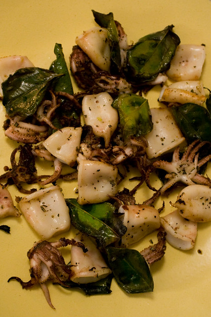 grilled calamari with kaffir lime leaves | Flickr - Photo Sharing!