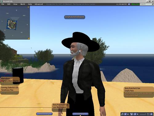 Terry Pratchett's Second Life avatar