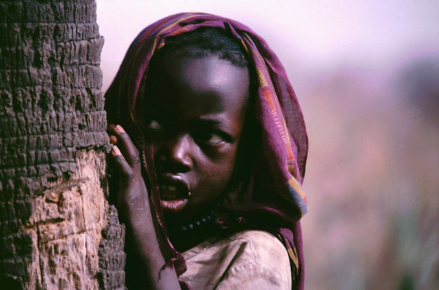 Shy child in Ruanda.