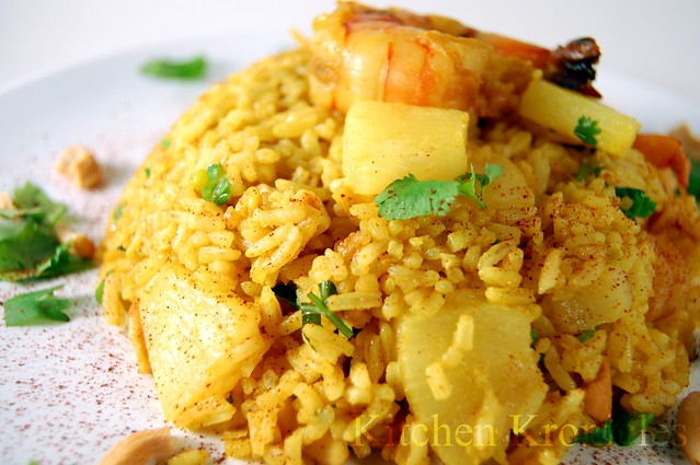 Curry Ginger Pineapple Fried Rice with Shrimps | Flickr - Photo ...