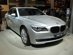 bmw 6 series(0.0), bmw hydrogen 7(0.0), automobile(1.0), automotive exterior(1.0), executive car(1.0), wheel(1.0), vehicle(1.0), automotive design(1.0), auto show(1.0), bmw 7 series(1.0), sedan(1.0), personal luxury car(1.0), land vehicle(1.0), luxury vehicle(1.0),