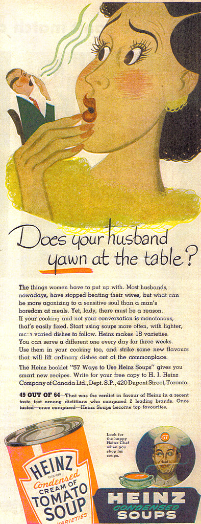 Vintage Ad #521: Does Your Husband Yawn at the Table?