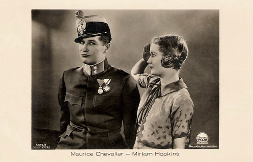 Maurice Chevalier and Miriam Hopkins in The Smiling Lieutenant (1931)