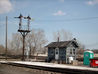 Chicago's historic Brighton Junction. April 2007. ( Gone.) by Eddie from Chicago
