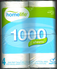 Image by wjc78 (40056006@N00) and image name homelife toilet paper front of package photo  about SuperValue product. They just recently aquired Albertsons and Acme stores, I believe they are trying to upscale there product line a bit. They normal carry RichFood , Flavorite and HomeBest products  . They still are carrying Acme products but I am starting to see Shoppers Value and homelife product