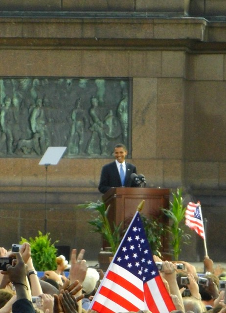 Barack Obama Speaks at the Tiergarten - Berlin, Germany