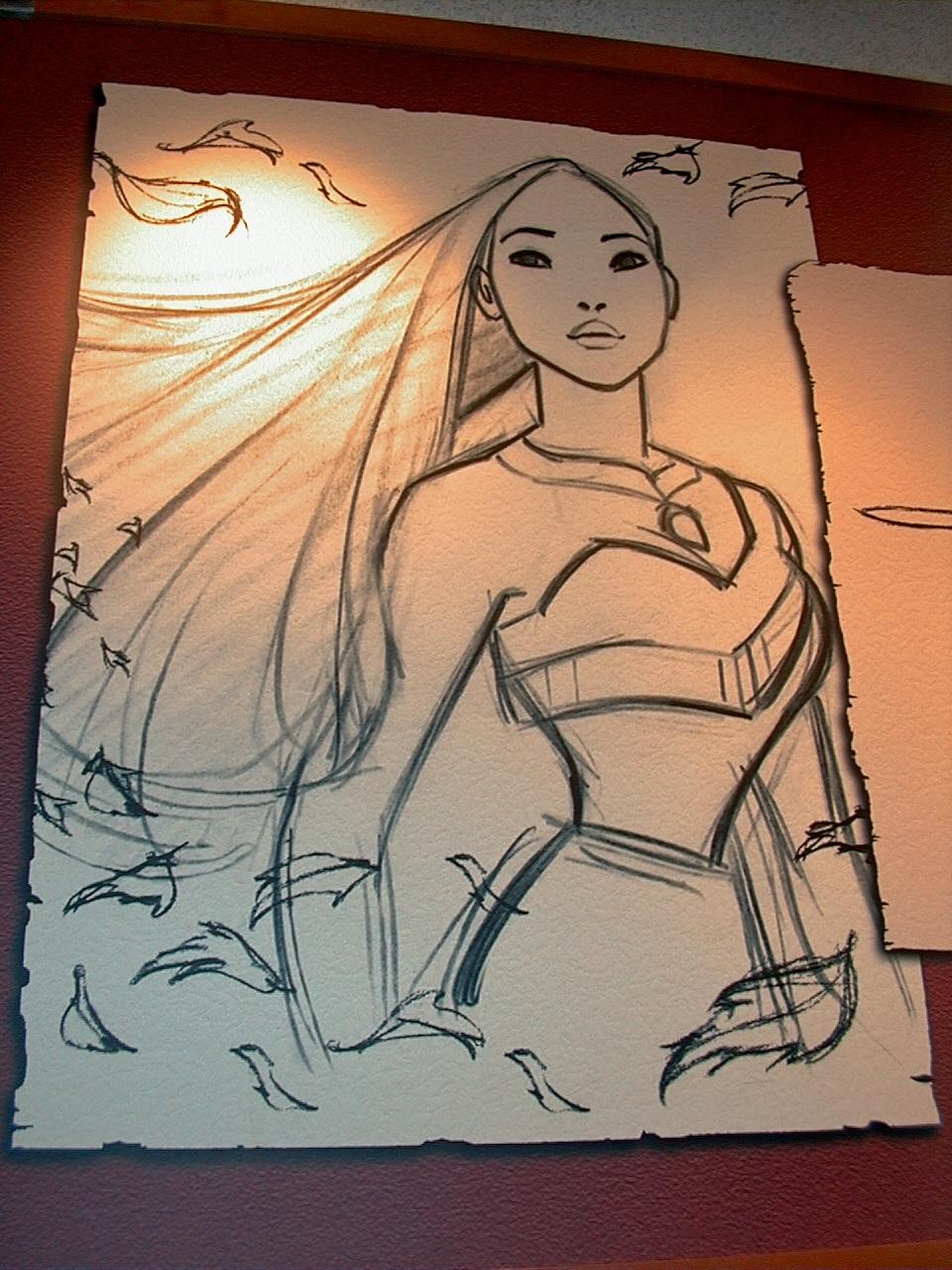 Disney Pocahontas Drawing Pocahontas Drawing at Disney