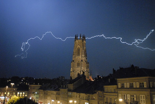world saint night cathedral nicolas lightning fribourg eclair cathedrale trekker stnicolas valgraphies aplusphoto