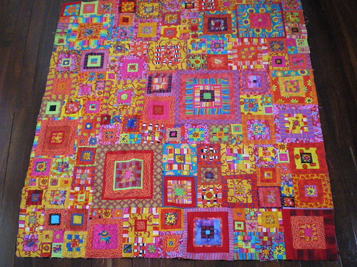 My lovely Kaffe Fassett quilt top