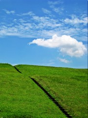 Sky, Clouds And Grass